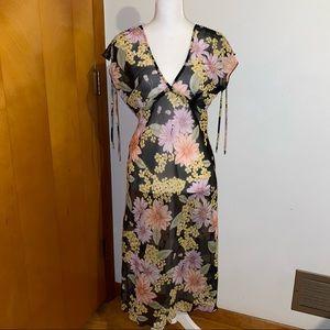 Vintage Y2K Sheer Floral Dress